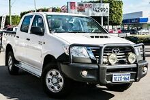 2013 Toyota Hilux KUN26R MY12 SR Double Cab White 4 Speed Automatic Utility Embleton Bayswater Area Preview