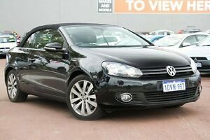 2011 Volkswagen Golf VI MY12 118TSI DSG Black 7 Speed Sports Automatic Dual Clutch Cabriolet Cannington Canning Area Preview