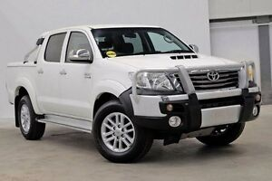 2012 Toyota Hilux KUN26R MY12 SR5 Xtra Cab White 5 Speed Manual Utility Seven Hills Blacktown Area Preview