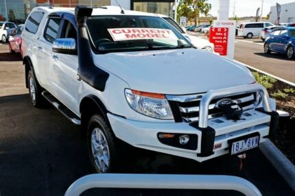 2013 Ford Ranger PX XLT Double Cab White 6 Speed Manual Utility Mill Park Whittlesea Area Preview