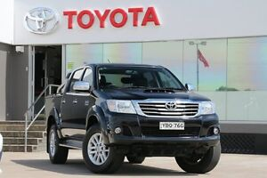 2014 Toyota Hilux KUN26R MY12 SR5 (4x4) Black 4 Speed Automatic Dual Cab Pick-up Old Guildford Fairfield Area Preview