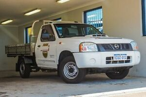 2008 Nissan Navara D22 MY2008 DX White 5 Speed Manual Cab Chassis Willagee Melville Area Preview