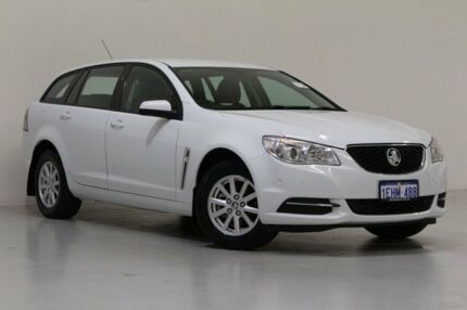 2013 Holden Commodore VF Evoke White 6 Speed Automatic Sportswagon Bentley Canning Area Preview