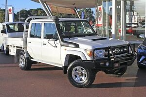 2013 Toyota Landcruiser VDJ79R MY13 GXL Double Cab French Vanilla 5 Speed Manual Cab Chassis Myaree Melville Area Preview