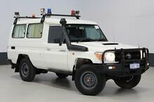 2010 Toyota Landcruiser VDJ78R 09 Upgrade Workmate (4x4) 3 Seat White 5 Speed Manual TroopCarrier Bentley Canning Area Preview