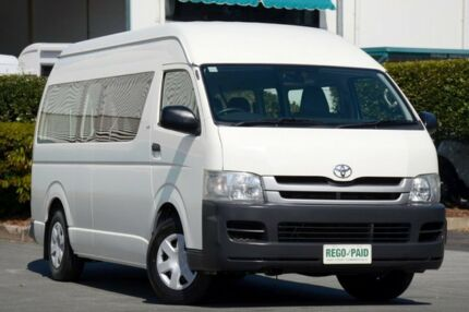 2008 Toyota Hiace KDH223R MY08 Commuter High Roof Super LWB White 5 Speed Manual Bus Acacia Ridge Brisbane South West Preview