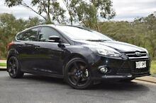 2011 Ford Focus LW Titanium PwrShift Black 6 Speed Sports Automatic Dual Clutch Hatchback St Marys Mitcham Area Preview