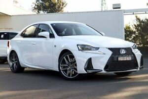 2018 Lexus IS300 ASE30R F Sport White 8 Speed Sports Automatic Sedan Kirrawee Sutherland Area Preview