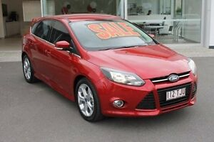 2013 Ford Focus LW MKII Sport PwrShift Red 6 Speed Sports Automatic Dual Clutch Hatchback Mount Gravatt Brisbane South East Preview