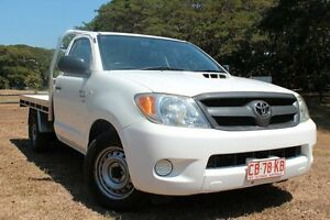 2006 Toyota Hilux KUN16R MY07 SR Glacier White 5 Speed Manual Cab Chassis The Gardens Darwin City Preview