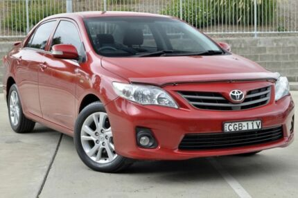 2012 Toyota Corolla ZRE152R MY11 Ascent Sport Burgundy 4 Speed Automatic Sedan Lisarow Gosford Area Preview