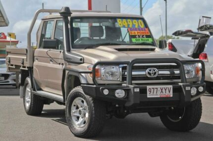 2017 Toyota Landcruiser VDJ79R GXL Double Cab Gold Metallic 5 Speed Manual Cab Chassis Monkland Gympie Area Preview