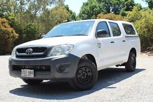2010 Toyota Hilux TGN16R MY10 Workmate White 5 Speed Manual Utility Hawthorn Mitcham Area Preview