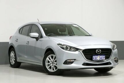 2018 Mazda 3 BN MY17 Touring Silver 6 Speed Automatic Hatchback Bentley Canning Area Preview