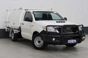 2011 Toyota Hilux KUN16R MY12 SR White 5 Speed Manual Cab Chassis Bentley Canning Area Preview