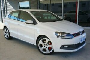 2011 Volkswagen Polo 6R MY12.5 GTI DSG White 7 Speed Sports Automatic Dual Clutch Hatchback