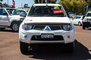 2013 Mitsubishi Triton MN MY13 GLX-R Double Cab White 5 Speed Manual Utility Cannington Canning Area Preview