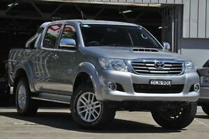 2015 Toyota Hilux KUN26R MY14 SR5 (4x4) Silver 5 Speed Manual Dual Cab Pick-up Mosman Mosman Area Preview