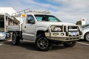 2013 Volkswagen Amarok 2H MY12.5 TDI400 (4x4) White 6 Speed Manual Cab Chassis Glendalough Stirling Area Preview
