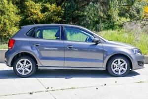 2010 Volkswagen Polo 6R MY11 66TDI Comfortline Grey 5 Speed Manual Hatchback