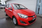 2013 Hyundai i20 PB MY13 Active Fire Engine Red 4 Speed Automatic Hatchback Cardiff Lake Macquarie Area Preview