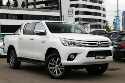 2017 Toyota Hilux GUN126R SR5 Double Cab White 6 Speed Sports Automatic Utility Liverpool Liverpool Area Preview