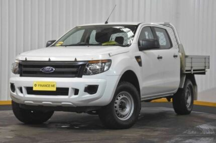 2014 Ford Ranger PX XL Double Cab White 6 Speed Sports Automatic Cab Chassis Hendra Brisbane North East Preview