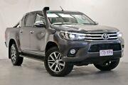 2015 Toyota Hilux GUN126R SR5 Double Cab Grey 6 Speed Manual Utility Wynnum Brisbane South East Preview