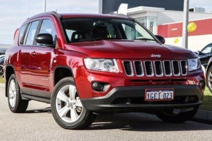 2013 Jeep Compass MK MY13 Sport CVT Auto Stick Red 6 Speed Constant Variable Wagon East Rockingham Rockingham Area Preview