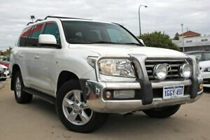 2010 Toyota Landcruiser VDJ200R 09 Upgrade Sahara (4x4) Crystal Pearl 6 Speed Automatic Wagon Victoria Park Victoria Park Area Preview