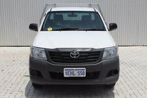 2013 Toyota Hilux TGN16R MY12 Workmate White 5 Speed Manual Cab Chassis Embleton Bayswater Area Preview