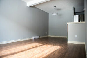 Two storey, two bedroom condo in the west end.