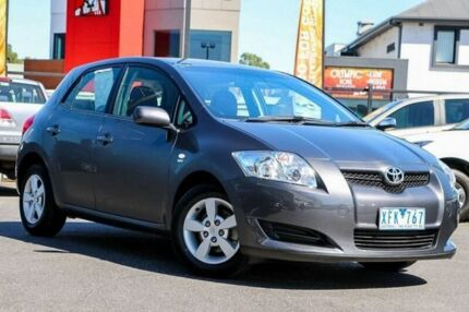 2009 Toyota Corolla ZRE152R Ascent Grey 6 Speed Manual Hatchback Coburg Moreland Area Preview