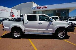 2013 Toyota Hilux GGN25R MY12 SR5 Double Cab White 5 Speed Automatic Utility Westminster Stirling Area Preview