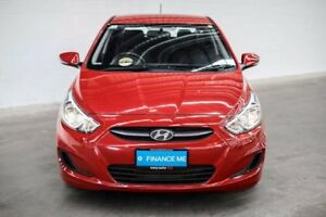 2016 Hyundai Accent RB4 MY16 Active Red 6 Speed Constant Variable Hatchback