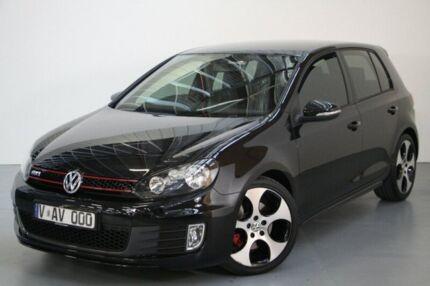 2012 Volkswagen Golf VI MY13 GTI DSG Black 6 Speed Sports Automatic Dual Clutch Hatchback Port Melbourne Port Phillip Preview