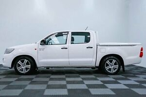 2012 Toyota Hilux GGN15R MY12 SR Double Cab White 5 Speed Automatic Utility Edgewater Joondalup Area Preview