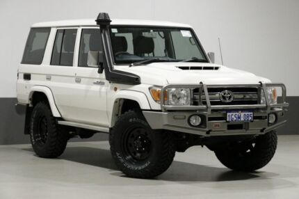 2017 Toyota Landcruiser LC70 VDJ76R MY17 GXL (4x4) White 5 Speed Manual Wagon Bentley Canning Area Preview