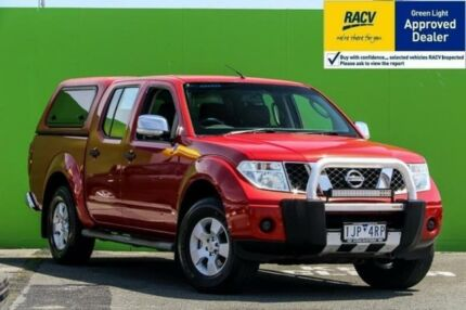 2008 Nissan Navara D40 ST-X Burgundy 5 Speed Automatic Utility Ringwood East Maroondah Area Preview