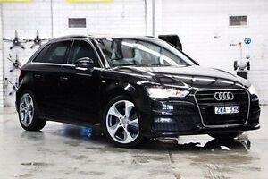 2013 Audi A3 8V Ambition Sportback S tronic Black 7 Speed Sports Automatic Dual Clutch Hatchback Doncaster Manningham Area Preview