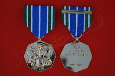 ARMY ACHIEVEMENT MEDAL, Full Size, Anodized Gold Finish (1037-AN) ()