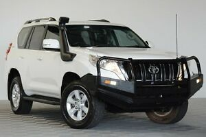 2013 Toyota Landcruiser Prado KDJ150R 11 Upgrade GXL (4x4) White 5 Speed Sequential Auto Wagon Coopers Plains Brisbane South West Preview