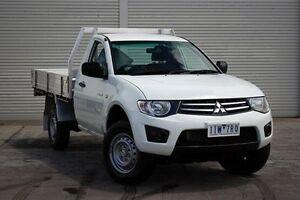 2013 Mitsubishi Triton MN MY13 GLX White 5 Speed Manual Cab Chassis Seaford Frankston Area Preview