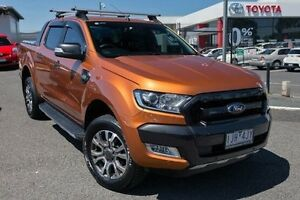 2016 Ford Ranger PX MkII Wildtrak Double Cab Orange 6 Speed Sports Automatic Utility Keysborough Greater Dandenong Preview
