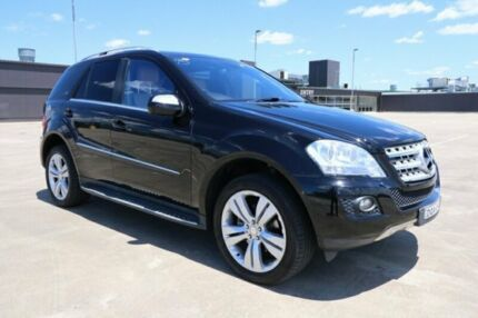 2010 Mercedes-Benz ML350 W164 MY10 Black 7 Speed Sports Automatic Wagon
