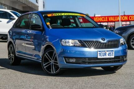 2015 Skoda Rapid NH MY15 Ambition Spaceback DSG Blue 7 Speed Sports Automatic Dual Clutch Hatchback Cannington Canning Area Preview