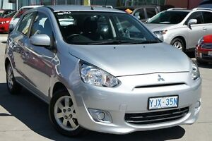 2014 Mitsubishi Mirage LA MY14 LS Silver 5 Speed Manual Hatchback Pearce Woden Valley Preview