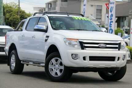 2014 Ford Ranger PX XLT Double Cab White 6 Speed Sports Automatic Utility Nundah Brisbane North East Preview