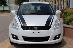 2013 Suzuki Swift FZ MY13 GLX White 5 Speed Manual Hatchback