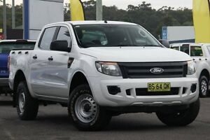 2012 Ford Ranger PX XL Double Cab White 6 Speed Manual Utility Glendale Lake Macquarie Area Preview